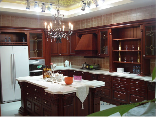 Modular wood kitchen cabinet lh sw038 in kitchen cabinets from home
