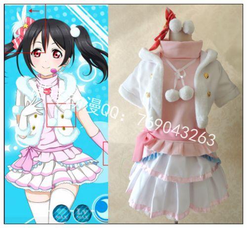 Здесь можно купить  Anime LoveLive Cosplay Yazawa Nico Cos Fight song clothes Halloween Fullset 6in1(Jackets+Skirts+coat+neckornaments+gloves+socks)  Одежда и аксессуары