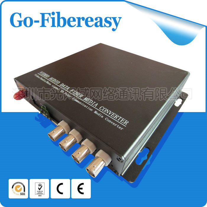 100% New Sell CCTV 4Channels Fiber Optic Video Convertor 4 channel Video to fiber converter/Fiber optic Video Multiplexer(China (Mainland))