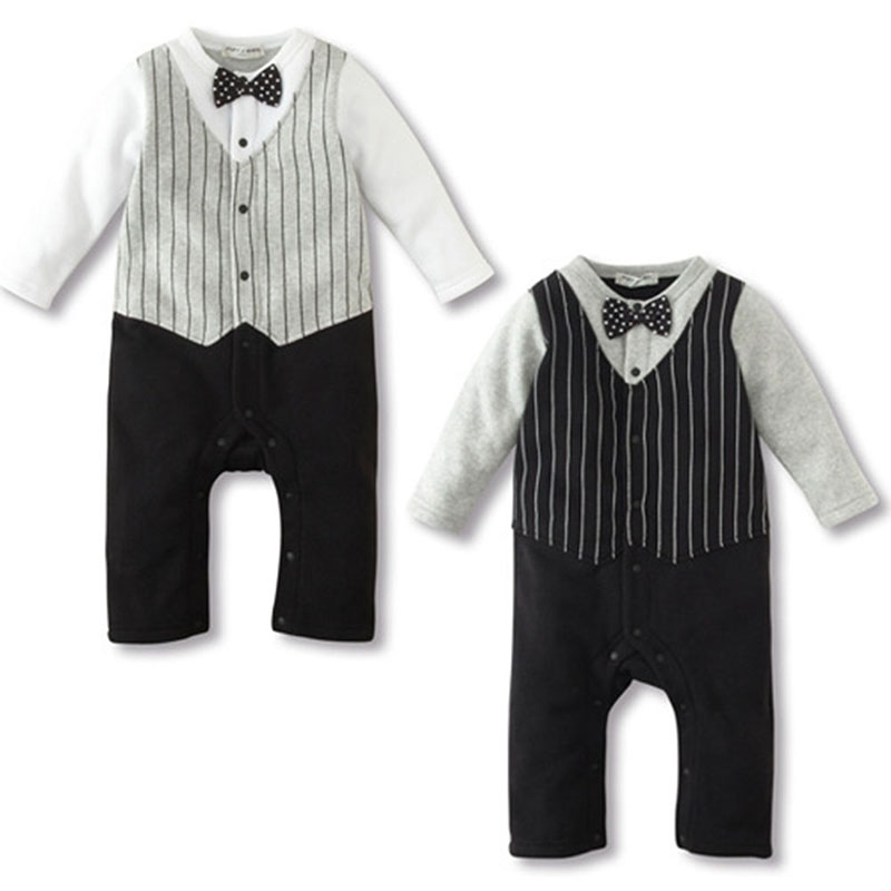 Baby Boy Wedding Formal Party Bow Tie Tuxedo Suit Romper Jumpsuit Outfit Clothes 0-18 M<br><br>Aliexpress