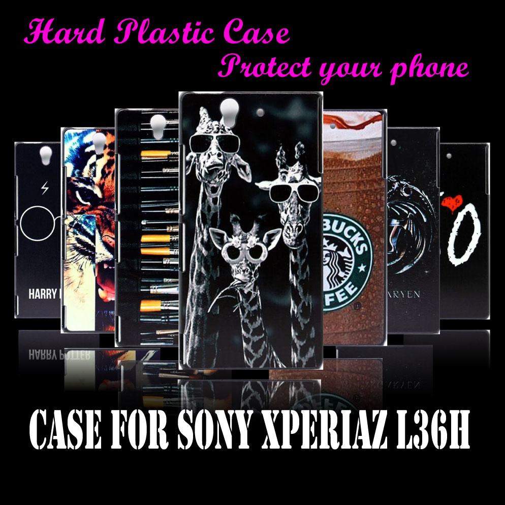 case Cover Sony Xperia Z L36H C6602 C6603 Unique Three Giraffe Family Hard Plastic Brand New Phone - CoolShopping store