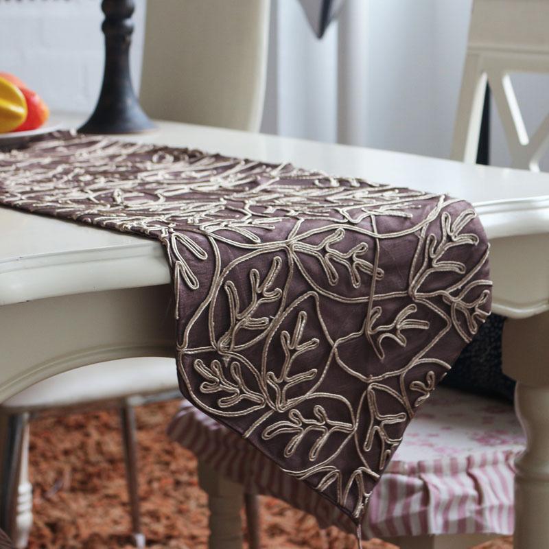 Good Shi Ji factory direct high-grade mesh weave pattern stylish table runner custom home decor wholesale wild(China (Mainland))