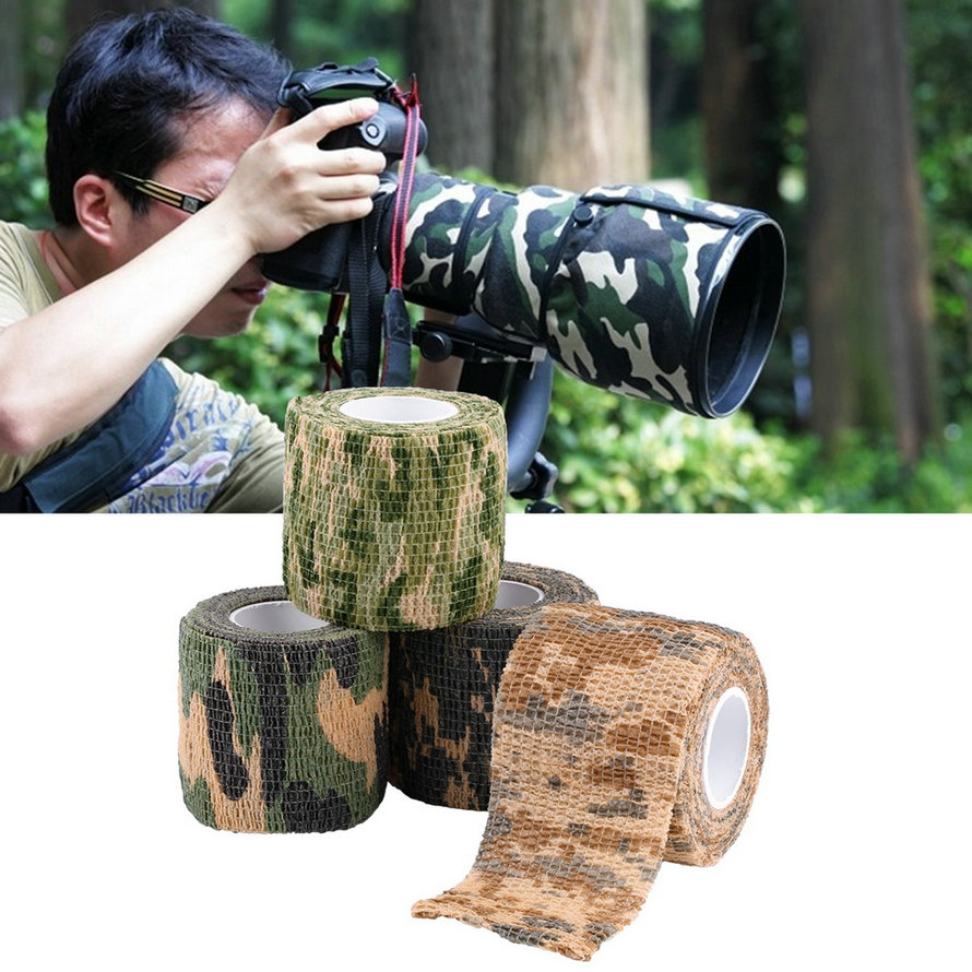 5cmx4.5m Army Camo Outdoor Hunting Shooting Tool Camouflage Stealth Tape Waterproof Wrap Durable new arrival(China (Mainland))