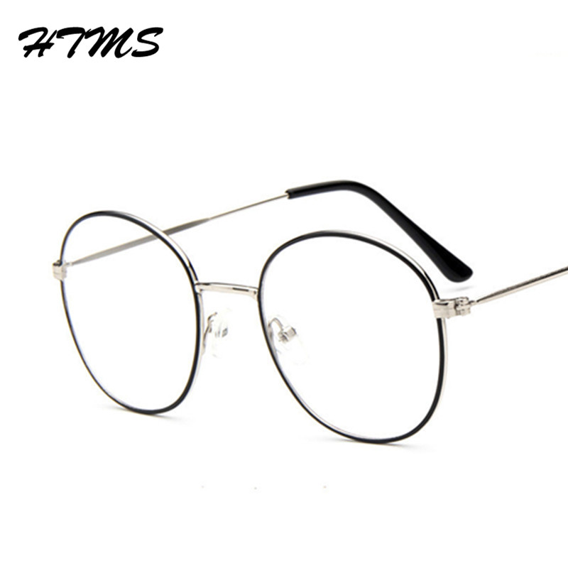 New Retro Oval Antique Glasses Frames Male Full Frame Metal Clear lens frames for women optical glasses armacao oculos(China (Mainland))
