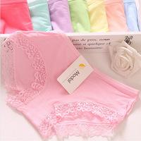 Model big size ladies underwear lace low waist briefs underwear wholesale girls 8030 Panties