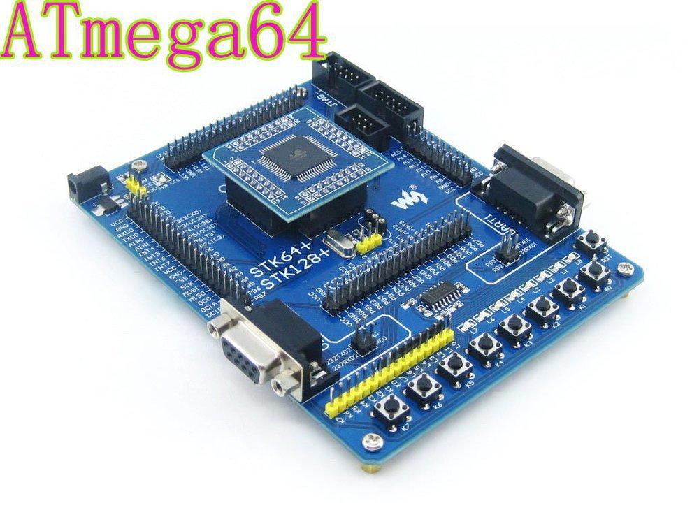 Atmel Atmega64 Board ATmega64A-AU ATmega64A AVR Development Board Starter Kit All I/Os from Waveshare Free Shipping(China (Mainland))