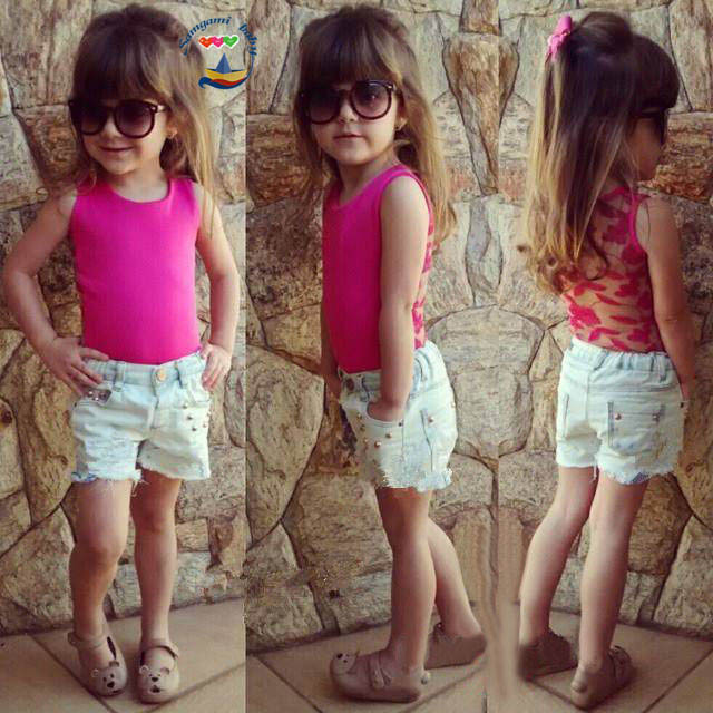 2015 New Girls Summer Clothes Baby Girl Clothing Sets ( Girls Vest Tops + Denim Shorts ) Vetement Enfant Fille 1892(China (Mainland))