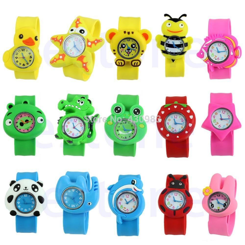 Гаджет  1pc Cute Cartoon Unisex Children Kid Sports Bendable Rubber Strap Quartz Wrist Watch None Часы