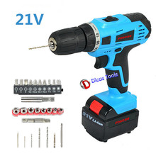 Household 21v 2*Battery  electric screwdriver multi-function  electric drill tools