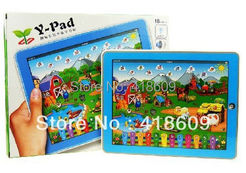 Touch screen ipad table computer learning Machine toy Y-pad farm Version kid learning, English ABC & Russian Version learning