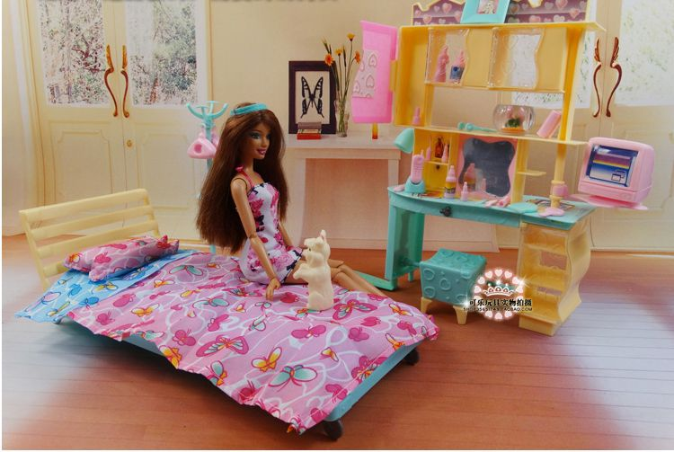 Aliexpress.com : Buy New Design Doll Bed Cabinet Set / Dollhouse Bedroom Furn...
