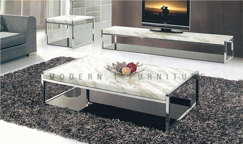 Metal Living Room Furniture Stainless Frame Coffee Table Tea Table Corner Tab