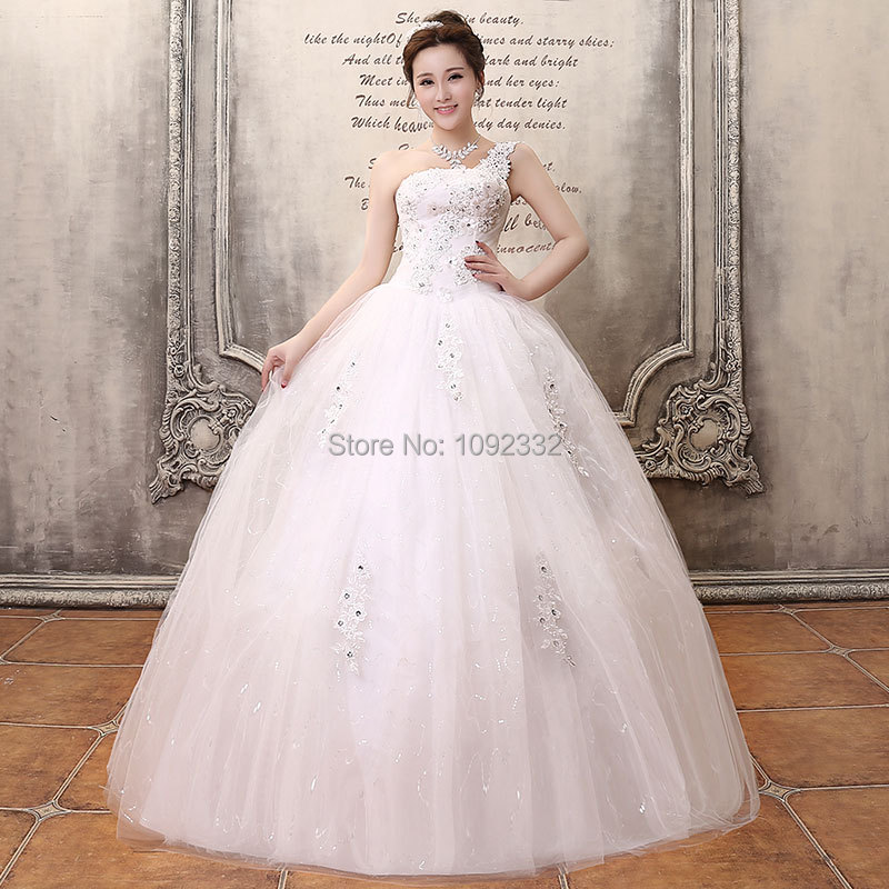 S 2016 stock new plus size women one shoulder strap flower for Plus size one shoulder wedding dress