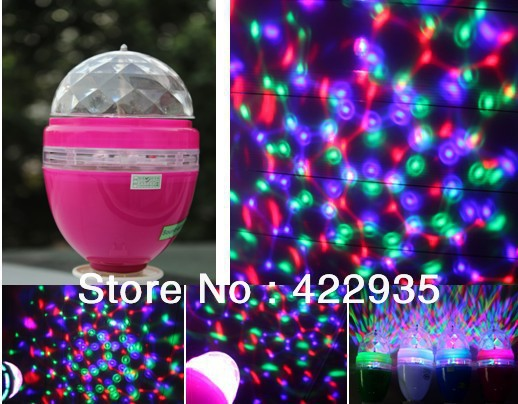 Style E27 LED Auto Voice Rotating Stage Lighting RGB Crystal Ball Effect Light Disco Party - JUGAL Stationery Store store