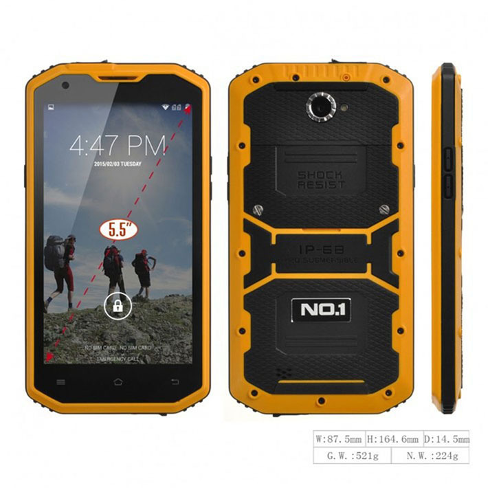 """New 5.5"""" No.1 X2 Quad core Smartphone 4G FDD LTE Android 4.4 Phone 8GB 13.0MP IP68 Waterproof shockproof dustproof(China (Mainland))"""