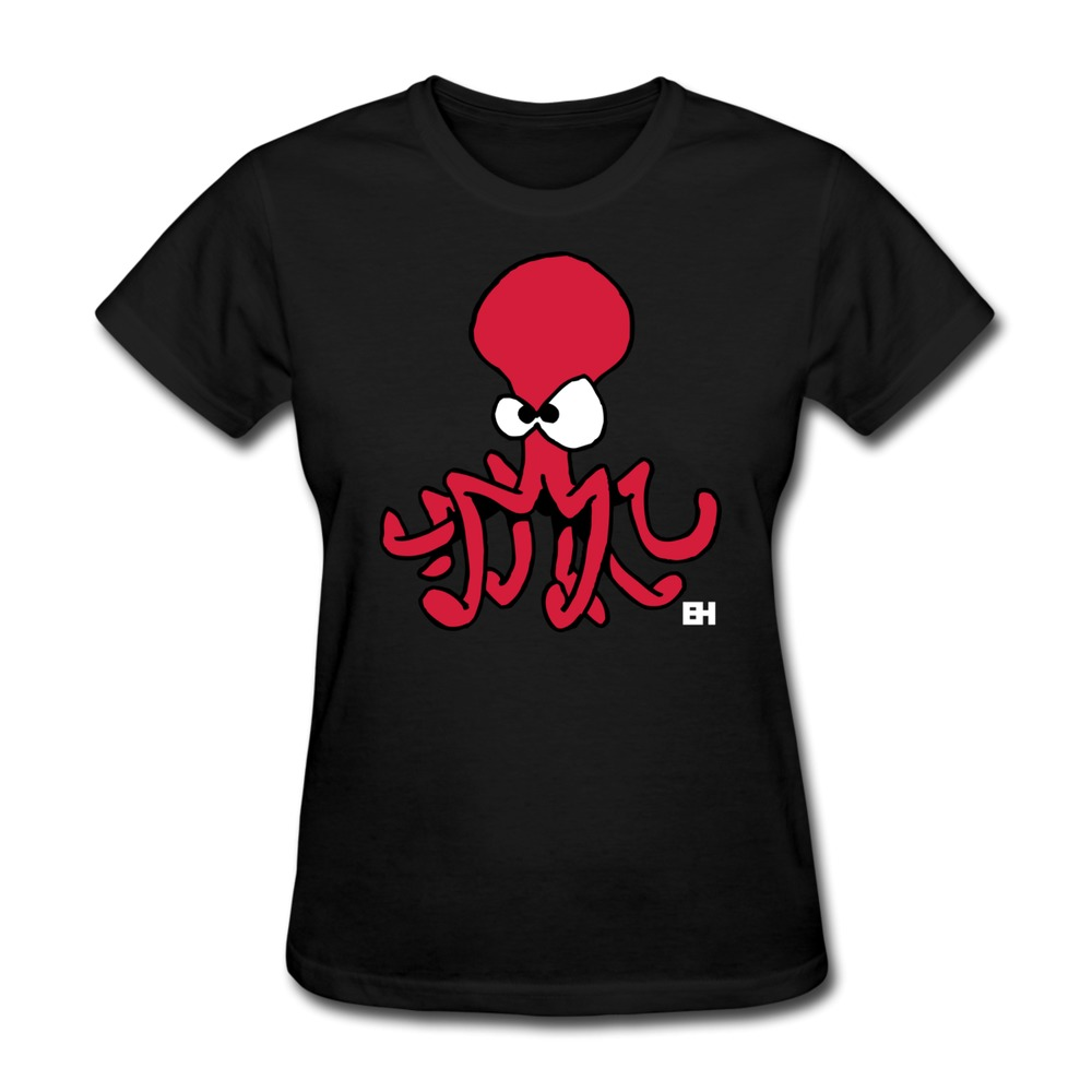 Casual T Shirt Women Octopus Make Own Cool Photo T Shirts