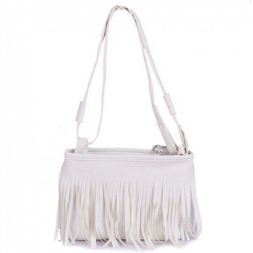 2015 New Hot Women Bags Fashionable Solid Color and Fringe Design Women's Crossbody Bag(China (Mainland))