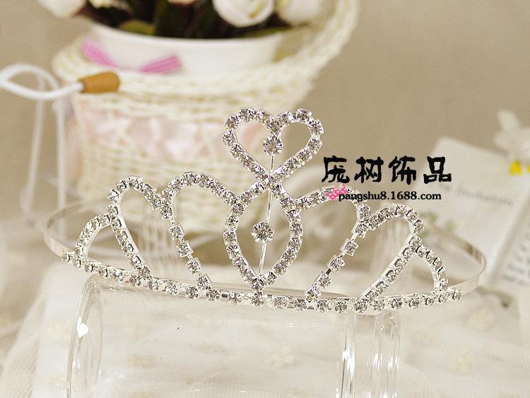 Summer Style 2015 Women diamond Crown headband / hairband For Wedding And Show hair accessories(China (Mainland))