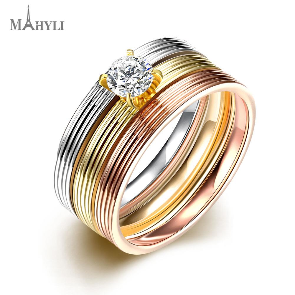MAHYLI CZ zircon Engagement Rings for Women Men Jewelry White Gold Plated Wedding Band Anniversary Rings Wholesale(China (Mainland))