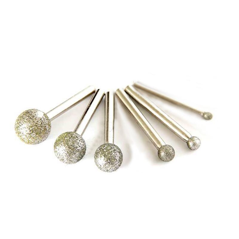 6pcs Round diamond grinding wheel for dremel rotary tool diamond tools for granite diamond burs dremel tools accessories(China (Mainland))