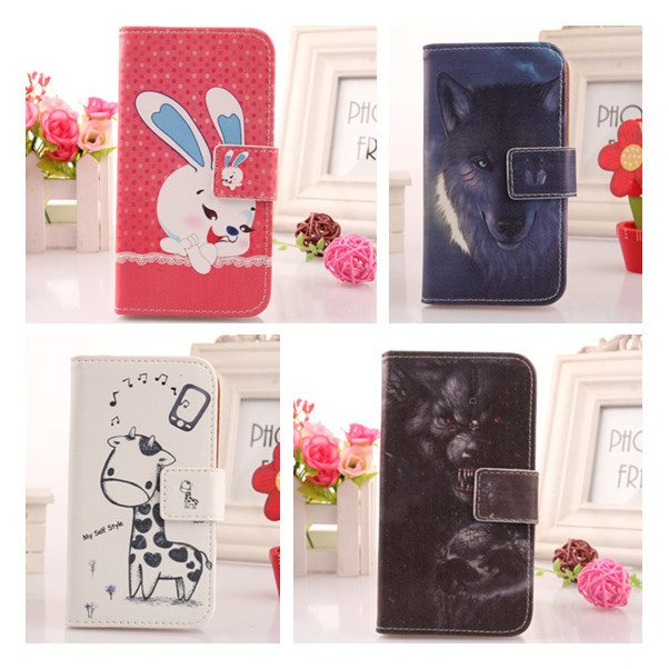 1x Painting Design Mobile Phone Case For Samsung Galaxy Star 2 Plus SM-G350E Book Style Colorful PU Leather Protect Shell(China (Mainland))