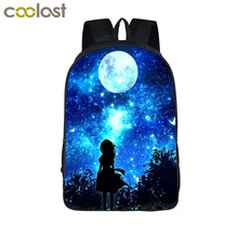 Buy Galaxy / Universe / Unicorn / Cheshire Cat School Backpack Teeange Girls School Bags Starry Night / Space Star Schoolbags for $16.97 in AliExpress store