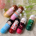 Hot fashion doll lovely cartoon lip balm Kimono Hydrating Lip Color