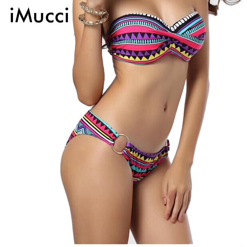 2016 Sexy Floral Print Swimwear Women Push Up Bikinis Ladies Vintage Bathing Suit High Quality Woman Bikinis SetОдежда и ак�е��уары<br><br><br>Aliexpress