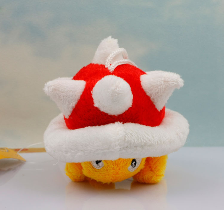 EMS 200PCS/Lot Free shipping Super Mario Bros sanei 5cm Spiny Shell Koopa Plush Figure Stuffed Toy Suction Cup stuffed animals <br>