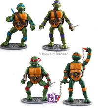 New Pop Classics Anime Teenage mutant ninja turtles Action Figures PVC ninja turtles Toys For Children Gift 4pcs/lot
