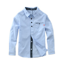 Hot Sale New Arrival 2016 Children boys Shirts Cotton 100% Solid Kids Shirts(China (Mainland))