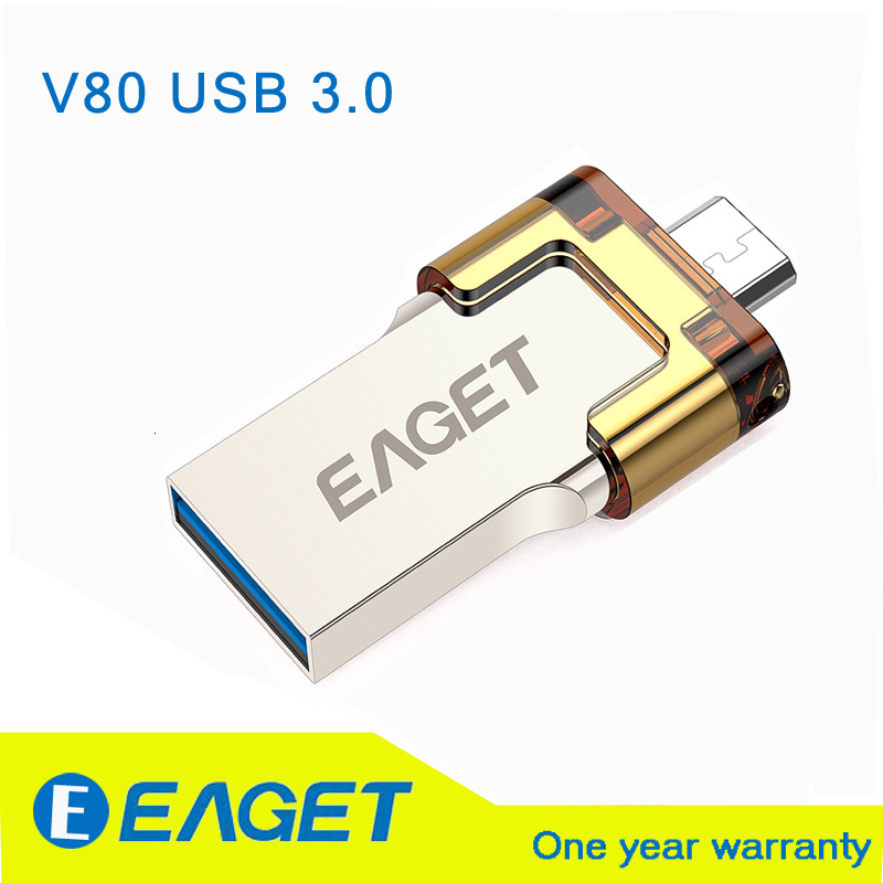 EAGET v80 otg usb stick flash usb 3.0 16GB 32GB 64GB G pen drive pendrive USB 3.0 Flash Drive Micro Smart Phone usb stick 3.0(China (Mainland))
