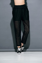 Melinda Style 2015 new women lace pants hollow our summer pants white and black 2 colors free shipping(China (Mainland))