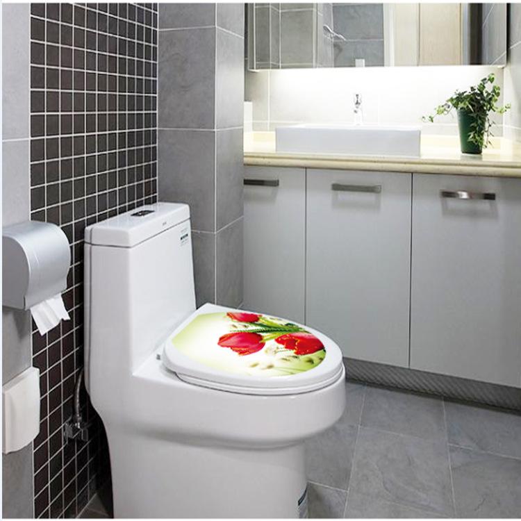 Buy Tulip Flower Home Decoration Wall Art Waterproof Toilet Sticker Bathroom