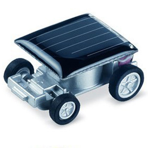 Micro plaza Creative smallest Solar Toy Car racing gadget vehicle(China (Mainland))