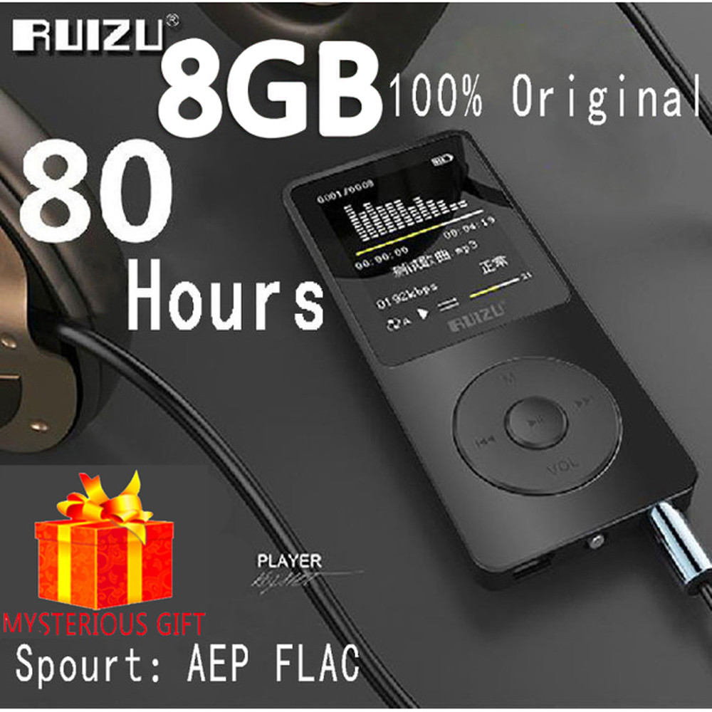 Ruizu X02 Lossless Flac Portable Mini Hifi Digital Sport Audio Screen Mp 3 Music Mp3 Player 8GB With Headphones Radio FM TF SD(China (Mainland))