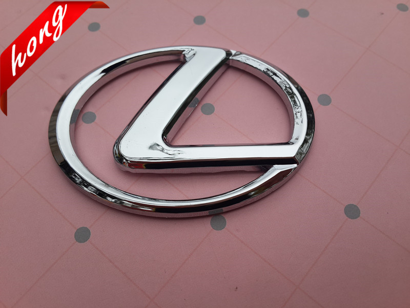 car Lexus Silver Steer Wheel Badge Emblem Sticker Auto Accessories Free shipping Car stickers(China (Mainland))