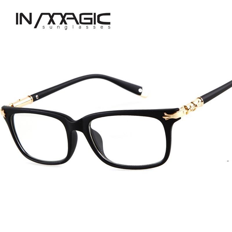 Square Designer Eyeglass Frames : New Fashion Brand Designer Spectacle Glasses Frame Women ...