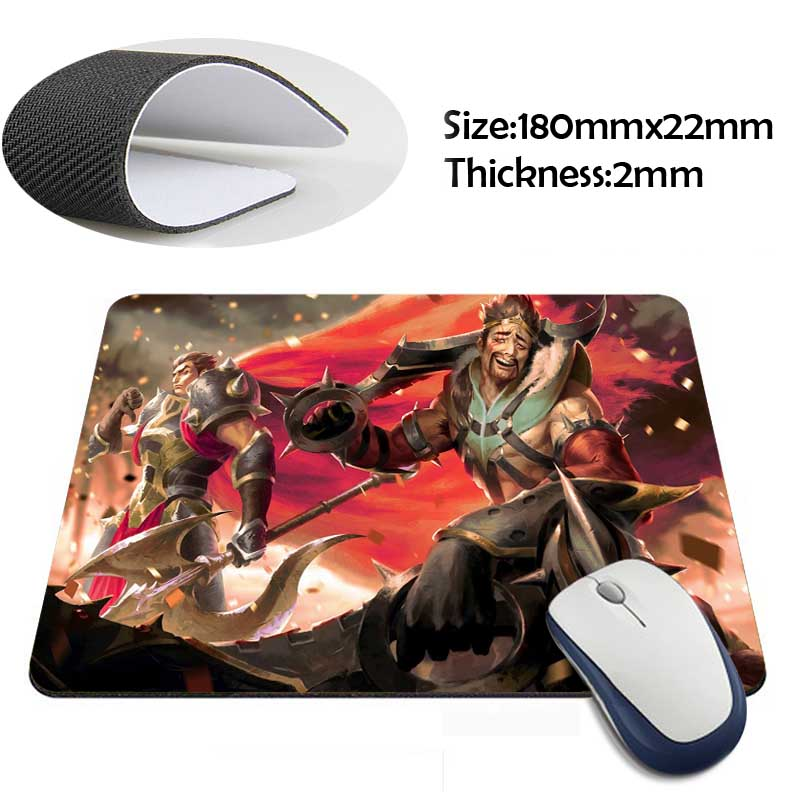darius and draven league of legends Rubber Soft Gaming Mouse Games Black Mouse pad(China (Mainland))
