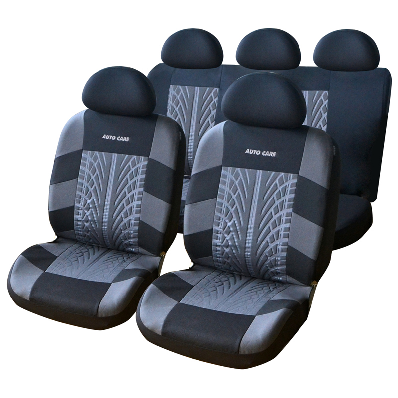 Car Seat Cover Set Universal Fit Most Car Covers Tire Track Detail Styling Car Seat Protector Red Blue Grey Interior Accessories(China (Mainland))