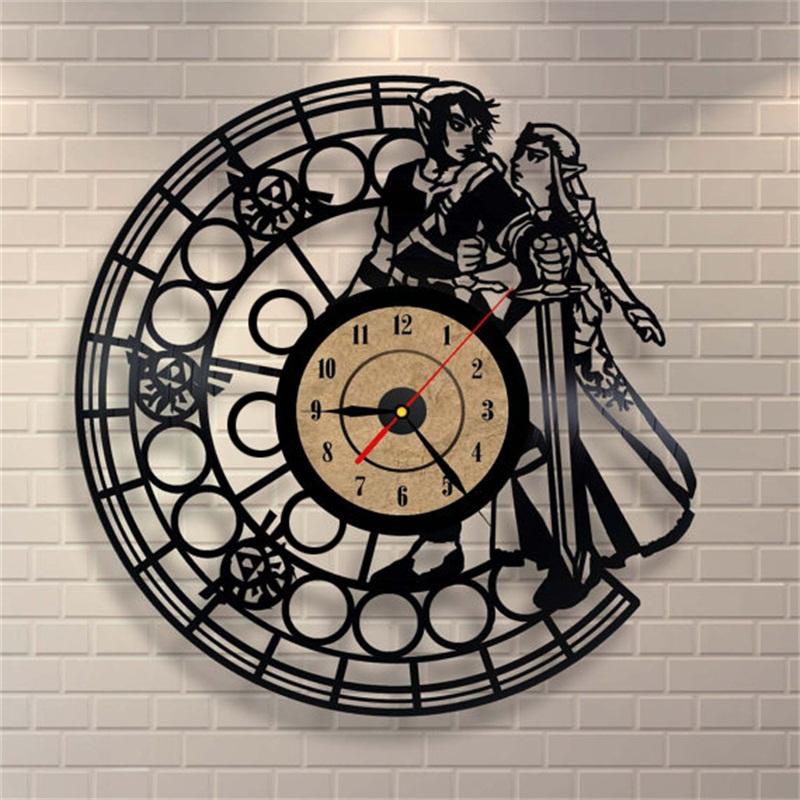 Antique vinyl wall clock modern home decor large decorative quartz wall clock - Horloge murale decorative ...