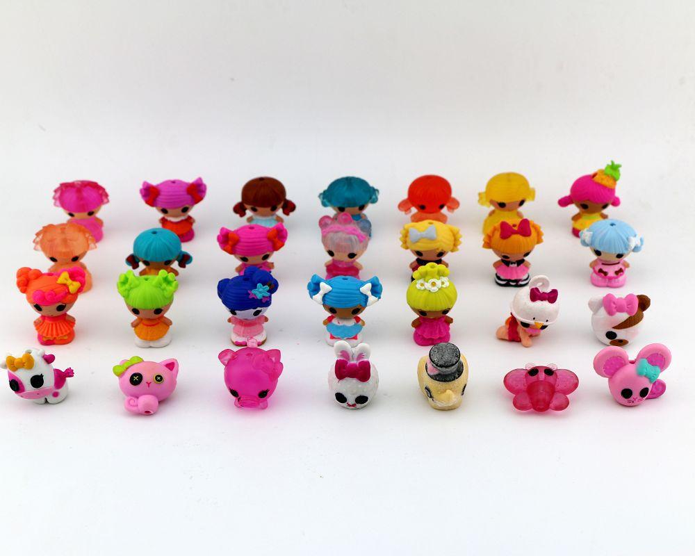 10pcs/set New 3cm MGA Mini Lalaloopsy Doll Bulk Button Eyes action figure anime Brinquedos Meninas kids toys hot sale(China (Mainland))