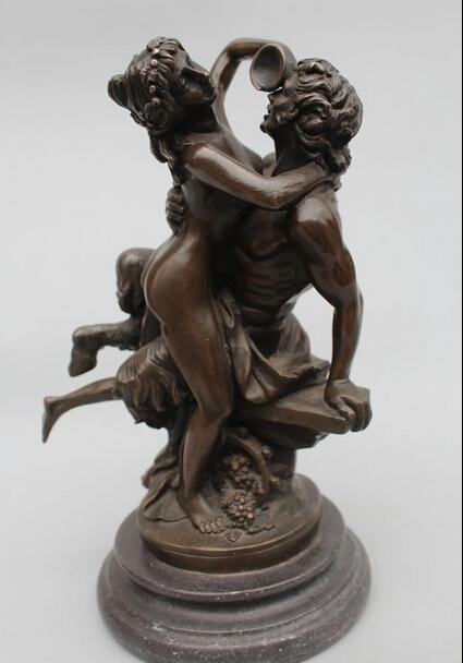 "Details about 12""Western Art sculpture Bronze Marble nude Belle Women Men sculpture Statue(China (Mainland))"