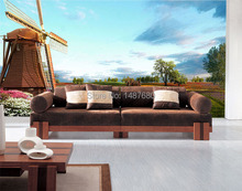 Any Size European windmill house prairie Tv background wall paper non-woven 3d wallpaper seamless Customize photo wallpaper roll
