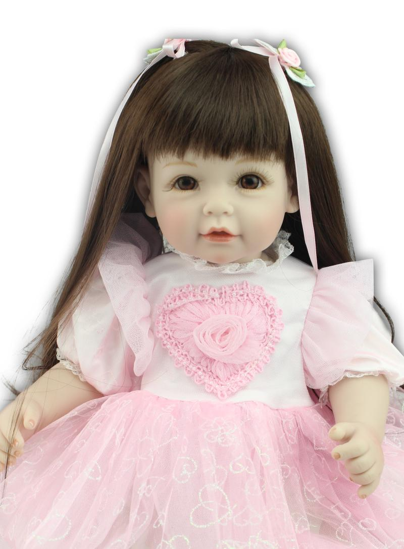 20Inch Silicone Baby Doll Reborn Handmade Doll  Reborn Baby Dolls Realistic Baby Girl Toys Lifesize Baby Doll Christmas Gift