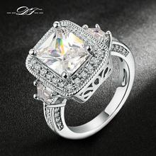роскошный преувеличены шокер 18K Серебряный мода стразы кольца кольцо перстень всевластия колечки перстнем оптом  dfr301 панк рок женские для женщин женское обручальные обручальное свадьба свадебная ювелирные изделия(China (Mainland))