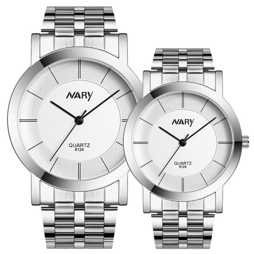 2015 new fashion watch women men stainless steel mens watches quartz armbanduhren herren mens and womens watches For Lover YW<br><br>Aliexpress