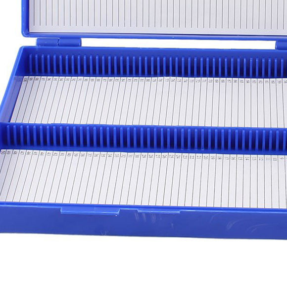 WSFS Wholesale 2 X Royal Blue Plastic Rectangle Hold 100 Microslide Slide Microscope Box<br><br>Aliexpress