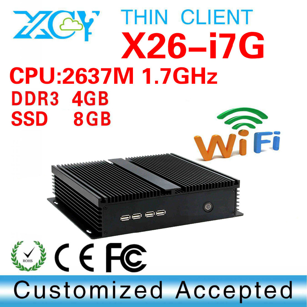 Low Price And Best Quality Intel I7 2637M 4g ram Thin Client Linux Mini PC And Hdmi Factory Desktop Computer(China (Mainland))