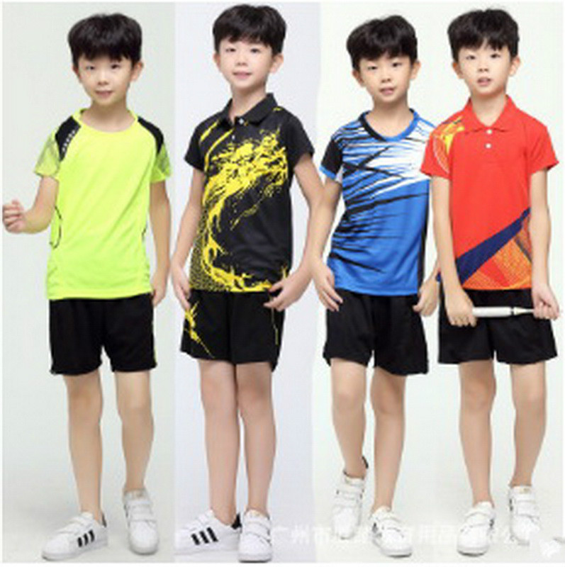 Table Tennis Clothes Youth 2017 New Badminton Clothing Suit Couple Quick Drying Summer Tennis Clothes Tennis Kids Sports Shirt(China (Mainland))